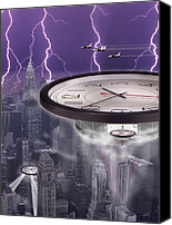 Ufo Canvas Prints - Time Travelers 2 Canvas Print by Mike McGlothlen