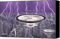 Ufo Canvas Prints - Time Travelers Canvas Print by Mike McGlothlen