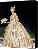Gold Lame Canvas Prints - To Catch A Thief, Grace Kelly, 1955 Canvas Print by Everett