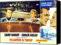 1955 Movies Canvas Prints - To Catch A Thief, Poster Art, Cary Canvas Print by Everett