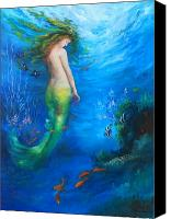 Sea Canvas Prints - To  the Surface Canvas Print by Gail Salituri