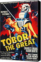 Subject Poster Art Canvas Prints - Tobor The Great, 1954 Canvas Print by Everett