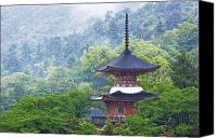 Miyajima Canvas Prints - Top of a Pagoda Canvas Print by Jeremy Woodhouse