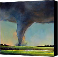 Tornado Canvas Prints - Tornado on the Move Canvas Print by Toni Grote