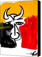 Picasso Painting Canvas Prints - Toro 7 Canvas Print by Jorge Berlato
