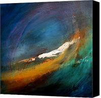Waves Mixed Media Canvas Prints - Toward the Warren Canvas Print by Anna Mazek