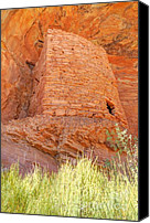 Cedar Canvas Prints - Tower Anasazi Indian Ruins - Comb Ridge - Utah Canvas Print by Gary Whitton