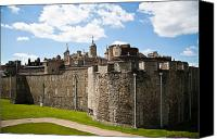 London Skyline Canvas Prints - Tower of London Canvas Print by Dawn OConnor