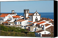 Azoren Canvas Prints - Town by the sea Canvas Print by Gaspar Avila