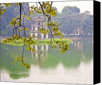 Ruins Canvas Prints - Tree with View of Hoan Kiem Lake, Hanoi, Vietnam, Asia Canvas Print by David Buffington
