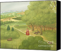 Ecumenical Canvas Prints - Trip to the ecumenical council by Fernando Botero Canvas Print by Stefano Baldini