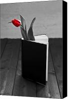 Literature Canvas Prints - Tulip In A Book Canvas Print by Joana Kruse