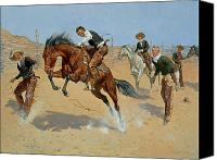 1861 Canvas Prints - Turn Him Loose Canvas Print by Frederic Remington