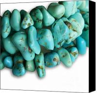 Abstract Fashion Art Canvas Prints - Turquoise stones Canvas Print by Blink Images