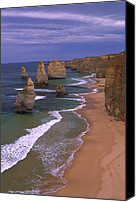 Animals And Earth Canvas Prints - Twelve Apostles Limestone Cliffs, Port Canvas Print by Konrad Wothe