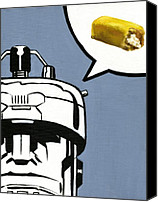 Hostess Canvas Prints - Twinkie Robot - Xmen Sentinel Canvas Print by Ryan Jones