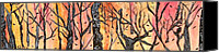 Modern Abstract Art Tapestries - Textiles Canvas Prints - Twisted Trees Canvas Print by Katina Cote