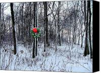 Julie Dant Photo Canvas Prints - Tyras Woods at Christmas Canvas Print by Julie Dant
