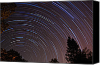 Startrail Canvas Prints - Under the Stars Canvas Print by Francesco Nadalini