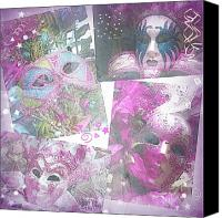 Purple Jester Digital Art Canvas Prints - Untitled Canvas Print by Amanda Horne