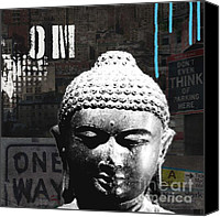 Linda Canvas Prints - Urban Buddha  Canvas Print by Linda Woods