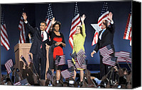 Michelle-obama Canvas Prints - U.s. President Elect Senator Barack Canvas Print by Everett