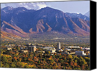 Salt Lake Canvas Prints - Utah Campus Aerial Canvas Print by University of Utah
