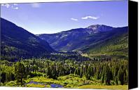 Evergreens Canvas Prints - Vail Valley View Canvas Print by Madeline Ellis