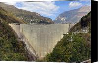 Dam Canvas Prints - Valle Verzasca - Ticino Canvas Print by Joana Kruse