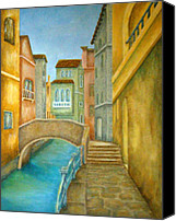 Architecture Painting Canvas Prints - Venezia Canvas Print by Pamela Allegretto