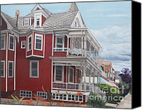 May Day Painting Canvas Prints - Victorian afternoon Cape May Canvas Print by Barbara Barber