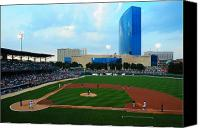 Baseball Parks Canvas Prints - Victory Field Canvas Print by Rob Banayote