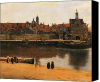 Barge Canvas Prints - View of Delft Canvas Print by Jan Vermeer