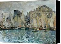 Overcast Painting Canvas Prints - View of Le Havre Canvas Print by Claude Monet
