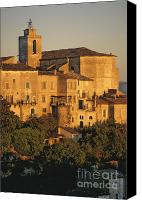 Church Photos Canvas Prints - Village de Gordes. Vaucluse. France. Europe Canvas Print by Bernard Jaubert