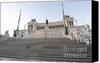 Staircase Canvas Prints - Vittoriano Monument to Victor Emmanuel II. Rome Canvas Print by Bernard Jaubert