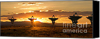 Machine Canvas Prints - VLA at Sunset Canvas Print by Matt Tilghman