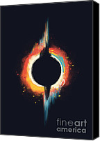 Circle Digital Art Canvas Prints - Void Canvas Print by Budi Satria Kwan