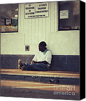 Poverty Canvas Prints - Waiting Canvas Print by Angela Wright