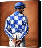 Race Horse Posters Canvas Prints - Waiting for Secretariat Canvas Print by Thomas Allen Pauly
