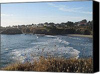 Mendocino Coast Canvas Prints - Waiting for the Wave  Canvas Print by Paula Christensen