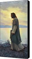 Grey Painting Canvas Prints - Walk with Me  Canvas Print by Greg Olsen