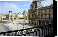 Old Buildings Canvas Prints - Walking at the Louvre Canvas Print by Susie Weaver
