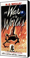 1950s Poster Art Canvas Prints - War Of The Worlds, Poster Art, 1953 Canvas Print by Everett