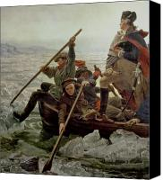 Military Uniform Painting Canvas Prints - Washington Crossing the Delaware River Canvas Print by Emanuel Gottlieb Leutze