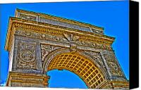 Washington Square Canvas Prints - Washington Square Arch Canvas Print by Randy Aveille