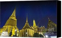 Pyrotechnics Canvas Prints - Wat Phra Kaew Canvas Print by Anek Suwannaphoom