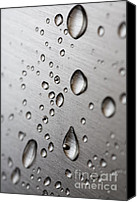 Body Canvas Prints - Water Drops Canvas Print by Frank Tschakert