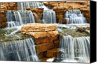 Outdoor Canvas Prints - Waterfall Canvas Print by Elena Elisseeva