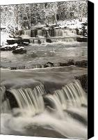Susan Canvas Prints - Waterfalls With Fresh Snow Thunder Bay Canvas Print by Susan Dykstra